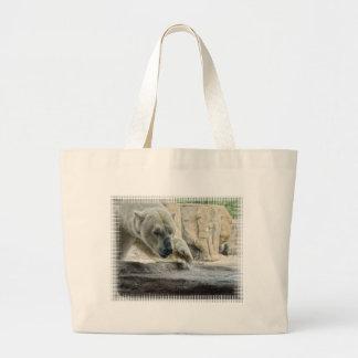 Playful Polar Bear Canvas Bag