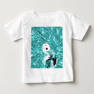 Playful Polar Bear In Turquoise Water Design Baby T-Shirt