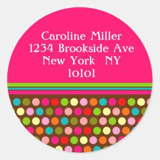 Playful Polka Dots Round Sticker