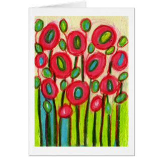 Playful Posies No 2 Thank You Card