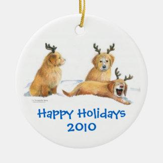 Playful Pups Ornament