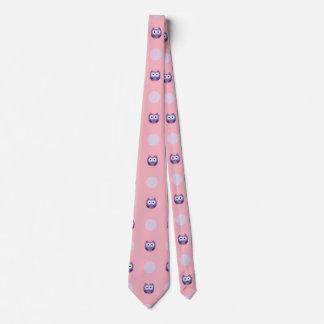 Playful Purple Owls Tie