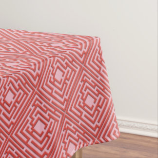 Playful Red Labyrinth on any Color Tablecloth