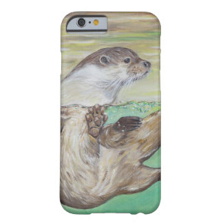 Playful River Otter Barely There iPhone 6 Case