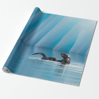 Playful Sea Otter Wrapping Paper