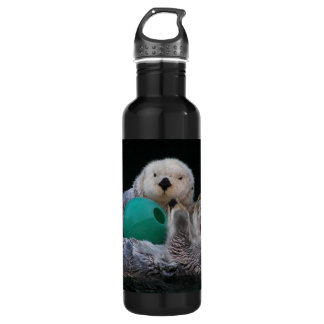Playful Sea Otters Photo 710 Ml Water Bottle