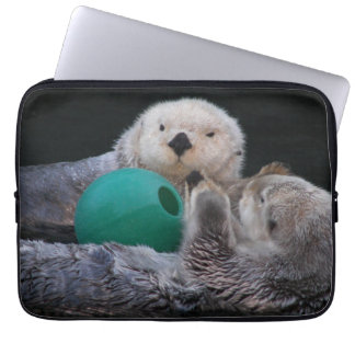 Playful Sea Otters Photo Laptop Laptop Sleeve