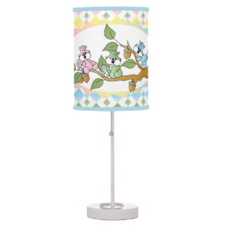 Playful Squirrel Nursery Theme Table Lamp