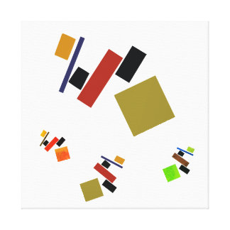 playful Suprematism Canvas Print