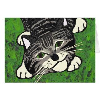 Playful Tabby Kitten Card
