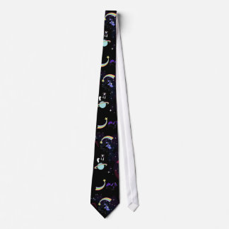 Playful unicorns in space Tie