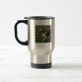 Playful Weimaraner Dog Stainless Travel Mug