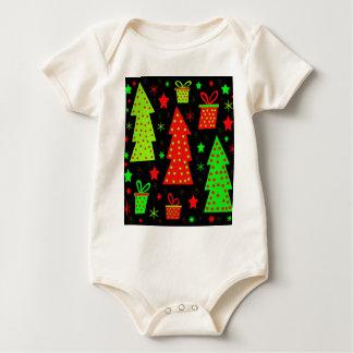 Playful Xmas Baby Bodysuit