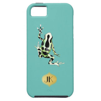 Playfully Adorable Black & Green Watercolor Frog Case For The iPhone 5