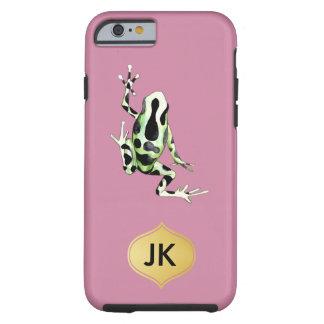 Playfully Adorable Black & Green Watercolor Frog Tough iPhone 6 Case