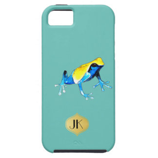 Playfully Adorable Blue & Yellow Watercolor Frog iPhone 5 Covers