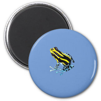 Playfully Adorable Colorful Watercolor Frog 2 Inch Round Magnet