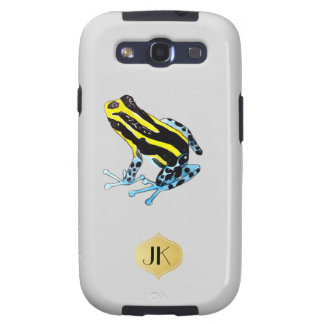 Playfully Adorable Colorful Watercolor Frog Galaxy SIII Cover
