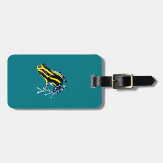 Playfully Adorable Colorful Watercolor Frog Luggage Tag