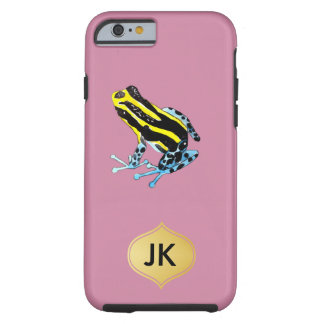 Playfully Adorable Colorful Watercolor Frog Tough iPhone 6 Case