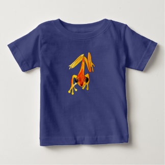 Playfully Adorable Orange & Yellow Watercolor Frog Baby T-Shirt