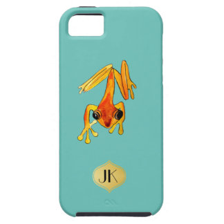 Playfully Adorable Orange & Yellow Watercolor Frog iPhone 5 Cover