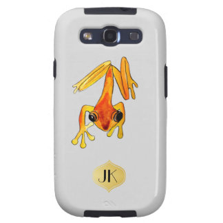 Playfully Adorable Orange & Yellow Watercolor Frog Samsung Galaxy SIII Case