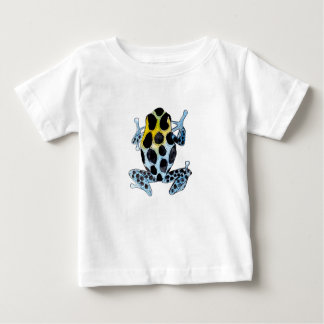 Playfully Adorable Spotty Colorful Watercolor Frog Baby T-Shirt