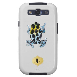 Playfully Adorable Spotty Colorful Watercolor Frog Samsung Galaxy S3 Cases