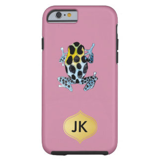 Playfully Adorable Spotty Colorful Watercolor Frog Tough iPhone 6 Case