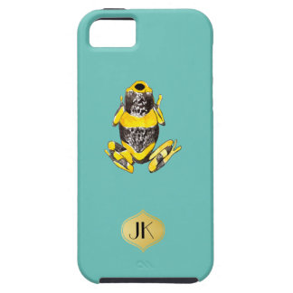 Playfully Adorable Yellow & Black Watercolor Frog Case For The iPhone 5