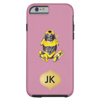 Playfully Adorable Yellow & Black Watercolor Frog Tough iPhone 6 Case