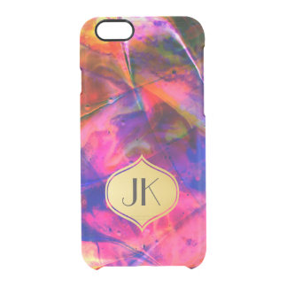 Playfully Artsy Edgy Abstract Monogram Clear iPhone 6/6S Case