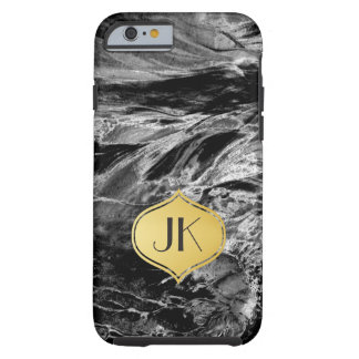 Playfully Artsy Edgy Abstract Monogram Tough iPhone 6 Case