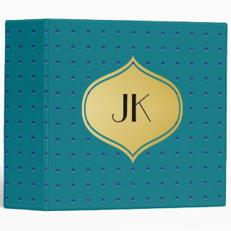 Playfully Beautiful Blue Floral Watercolor 3 Ring Binders