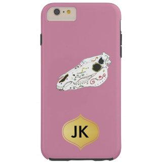 Playfully Beautiful La Muerte Horse Skull Tough iPhone 6 Plus Case