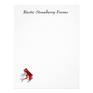 Playfully Beautiful Red Frog Letterhead