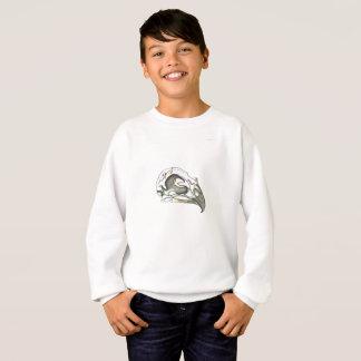 Playfully Cool Girly Grunge Bird Skull Sweatshirt
