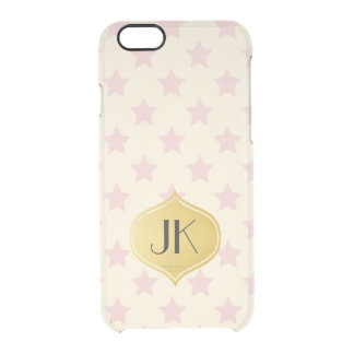 Playfully Cool Romantic Pattern Gold Monogram Clear iPhone 6/6S Case