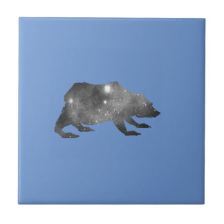 PLAYFULLY COOL UNIVERSE BEAR CERAMIC TILE