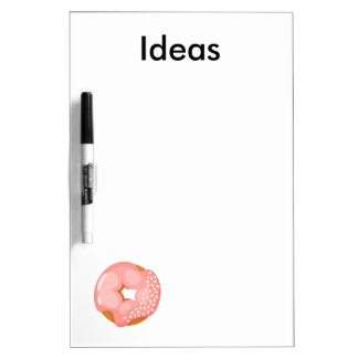 Playfully Delicious Mouth Watering Donut Dry-Erase Board
