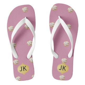 Playfully Delicious Mouth Watering Donut Flip Flops