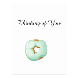 Playfully Delicious Mouth Watering Donut Postcard