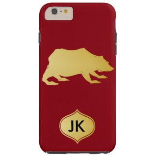 Playfully Elegant Hand Drawn Gold Actionable Bear Tough iPhone 6 Plus Case