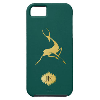 Playfully Elegant Hand Drawn Gold Gazelle Case For The iPhone 5