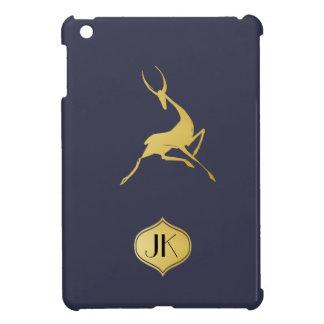 Playfully Elegant Hand Drawn Gold Gazelle iPad Mini Covers