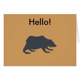 Playfully Elegant Hand Drawn Grey Actionable Bear Card