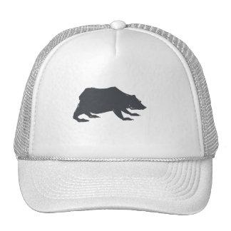 Playfully Elegant Hand Drawn Grey Actionable Bear Trucker Hat