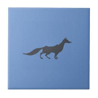 Playfully Elegant Hand Drawn Grey Fox Tile