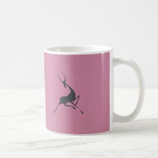 Playfully Elegant Hand Drawn Grey Gazelle Coffee Mug